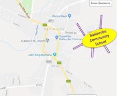 Venue – Ballinrobe Community School (Eircode: F31 XD53)