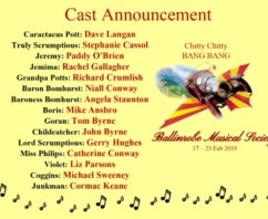 Cast Announcement for Chitty Chitty Bang Bang