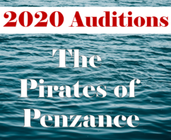 "Auditions for our 50th "" The Pirates of Penzance """