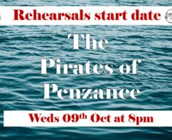 Rehearsal Start Weds 09th October 8pm